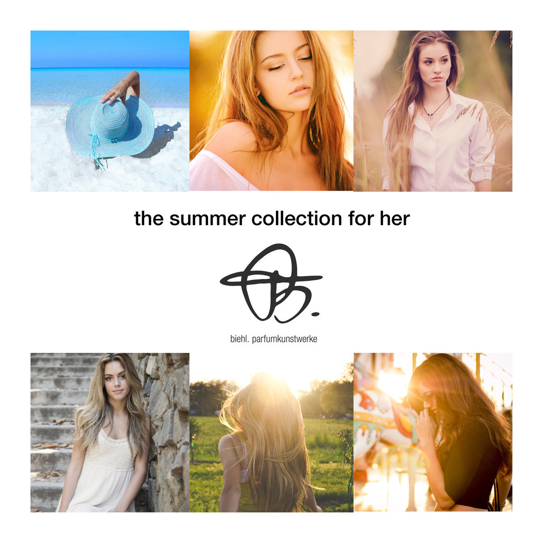 samples 'summer collection for her' with 4 x 2ml perfume samples