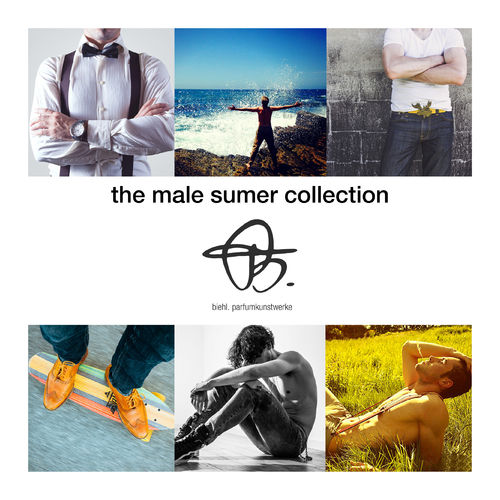 samples 'summer collection for him' with 4 x 2ml perfume samples
